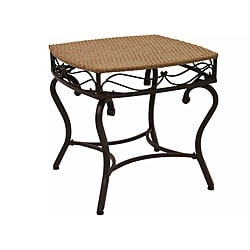 Valencia Resin Wicker/ Steel Frame Outdoor Side Table