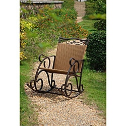 Valencia Resin Wicker/ Steel Frame Rocking Chair