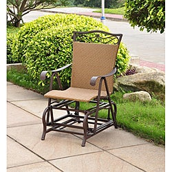Valencia Resin Wicker/ Steel Frame Single Glider Chair