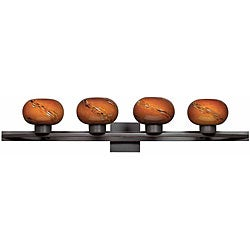 Atomique 4-light Oil-rubbed Bronze Bath Fixture | Overstock.