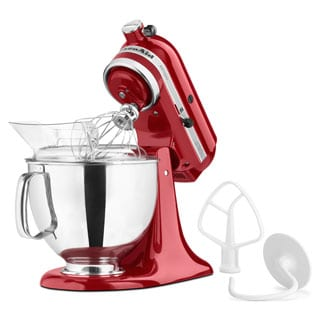 KitchenAid RRK150ER Empire Red 5-quart Artisan Tilt-Head Stand Mixer (Refurbished)