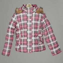 Dollhouse Big Girl's Plaid Puffer Coat