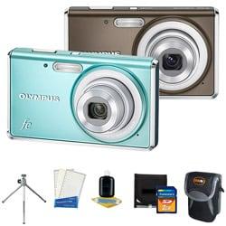 Olympus FE-4020 14MP Digital Camera with Bonus Kit (Refurbished)