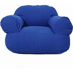 Ella Perfect Royal Blue Twill Bean Bag Arm Chair