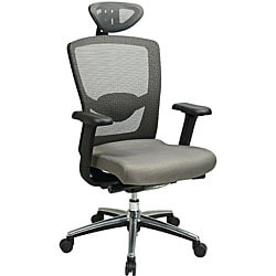 Office Star Grey ProGrid High Back Chair