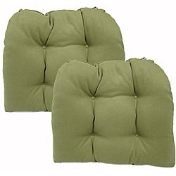 Pebble Sage Brushed Kitchen/ Dining Chair Pads (Set of 2)