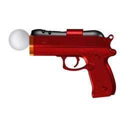 PlayStation Move 3D Shot Motion Controller - Red - By Mad Catz