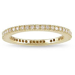 Miadora 18k Yellow Gold 1/3ct TDW Diamond Eternity Ring (G-H, SI1-SI2)