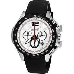 August Steiner Men's Stainless Steel Chronograph GMT Watch