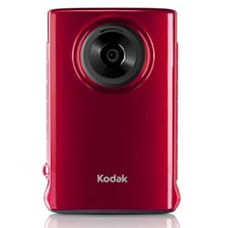 Kodak ZM1 Mini Waterproof Red Digital Camcorder with 2GB SD Card