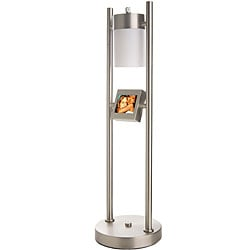 Tao Electronics Brushed Metal Digital Photo Table Lamp