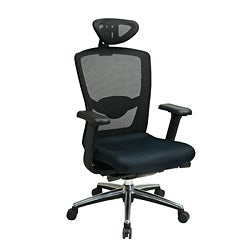 Office Star Black ProGrid Headrest Chair