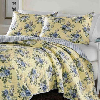Laura Ashley Linley Reversible 3-piece Full/ Queen-size Quilt Set