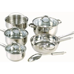 Cook N Home Stainless Steel 10-piece Cookware Set