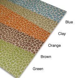 Giraffe Print Linen Table Runner