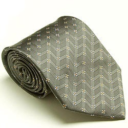 Platinum Ties Men's 'Silver Dollar' Tie
