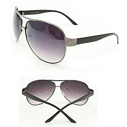 Women's Black Aviator Sunglasses