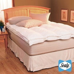 Sealy 230-thread Count Cotton Down-on-top Baffled Featherbed