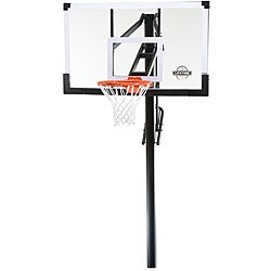 Lifetime 54-inch Tempered Glass In-ground Power Lift Basketball System