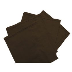 Brown Cotton Napkins (Set of 4)