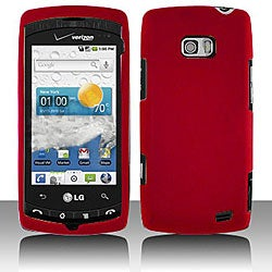 LG Ally VS740 Red Snap-on Protective Case Cover