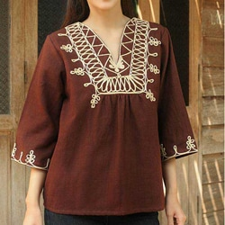 Cotton 'Earth Dance' Blouse (Thailand)