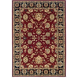 Indoor Red Floral Rug (9' x 13')