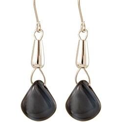 Sterling Silver 'Mystic Midnight Sky' Glass Bead Earrings