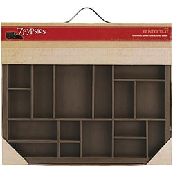 Artist Letterblock Tray W/Silver (Brushed Nickel) Handle