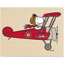 Peanuts Snoopy Flying High Wood Mounted Rubber Stamp