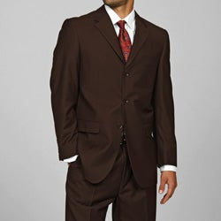 Giorgio Fiorelli Men's Brown 3-button Suit