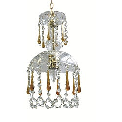 Indoor 1-light Crystal/ Amber Chandelier