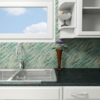 SomerTile 10.75x12.75-in Samoan Brick .5x3.5-in Springfield Porcelain Mosaic (Pack of 10)