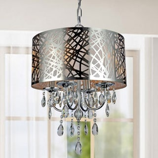 4-light Chrome Crystal Chandelier