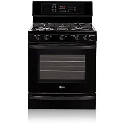LG LRG3095SB 5.4 Cu. Ft Black Evenjet Convection Gas Range
