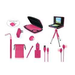 The 10 in 1 travel kit for the Nintendo DSi  in Pink