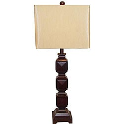 Ramoncito Espresso Square Wood Table Lamp