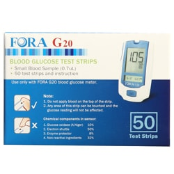 FORA G20 Blood Glucose Test Strips (50 Count)