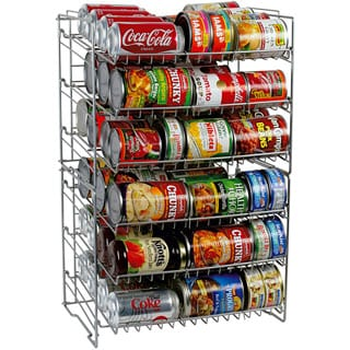 Silver Steel Double-high Can Rack
