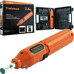 Trademark 60-piece 3.6-volt Rotary Tool Set with Rechargeable Battery