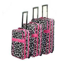 World Traveler Giraffe 3-piece Expandable Luggage Set
