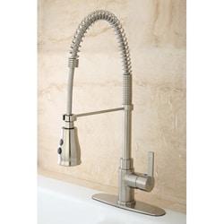 Continental Modern Spiral Satin Nickel Kitchen Faucet