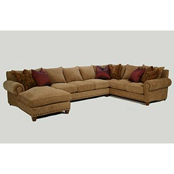 Rocky Mountain 3-piece Golden Wheat Sectional Sofa Set
