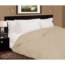 Lightweight 230 Thread Count Ivory Microfiber Down Comforter