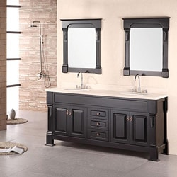 Design Element Marcos Solid Wood Double Sink Bathroom Vanity