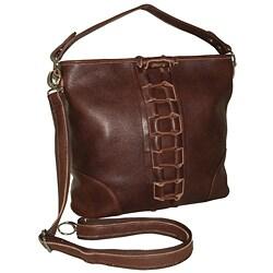 Amerileather 'Mandy' Woven Leather Handbag