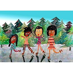 Edward Eugene Wade Jr. 'Winter Fun' Art Print