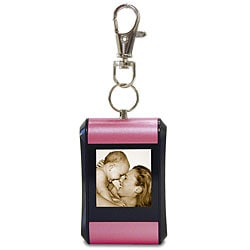 Pink Rounded Digital Photo Keychain