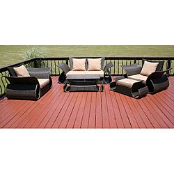 Barbados 5-piece All Weather Resin Wicker Patio Furniture Set