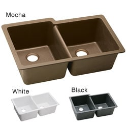 Elkay ELGU250 E-granite 33x20.5-in Double-bowl Undermount Sink